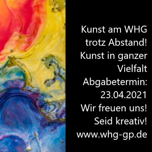 Kunst am WHG – trotz Abstand