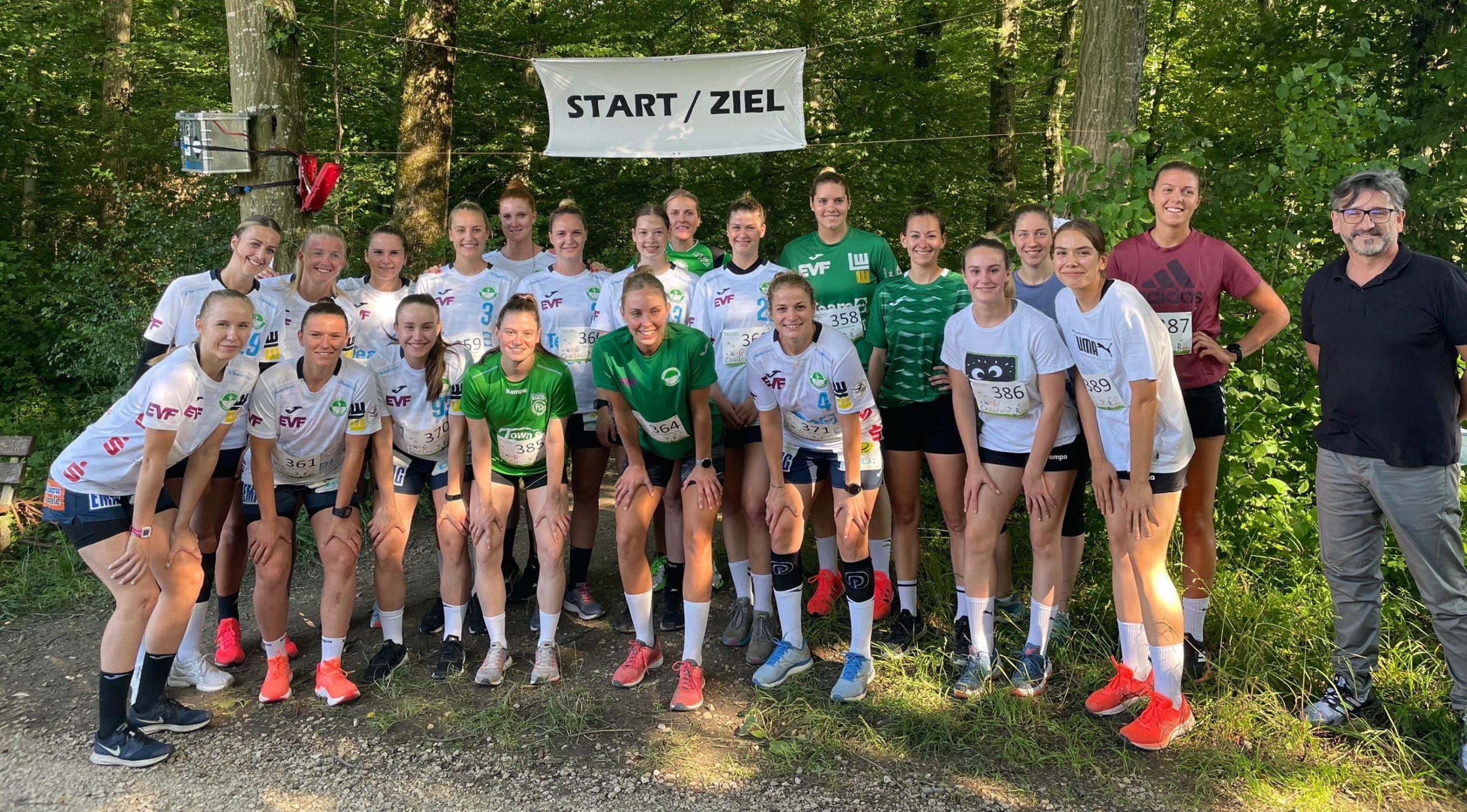Frisch-Auf Frauen unterstützen WHG-Lauf-Challenge